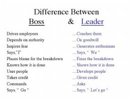 Difference in boos - leader