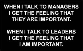 Leaders managers